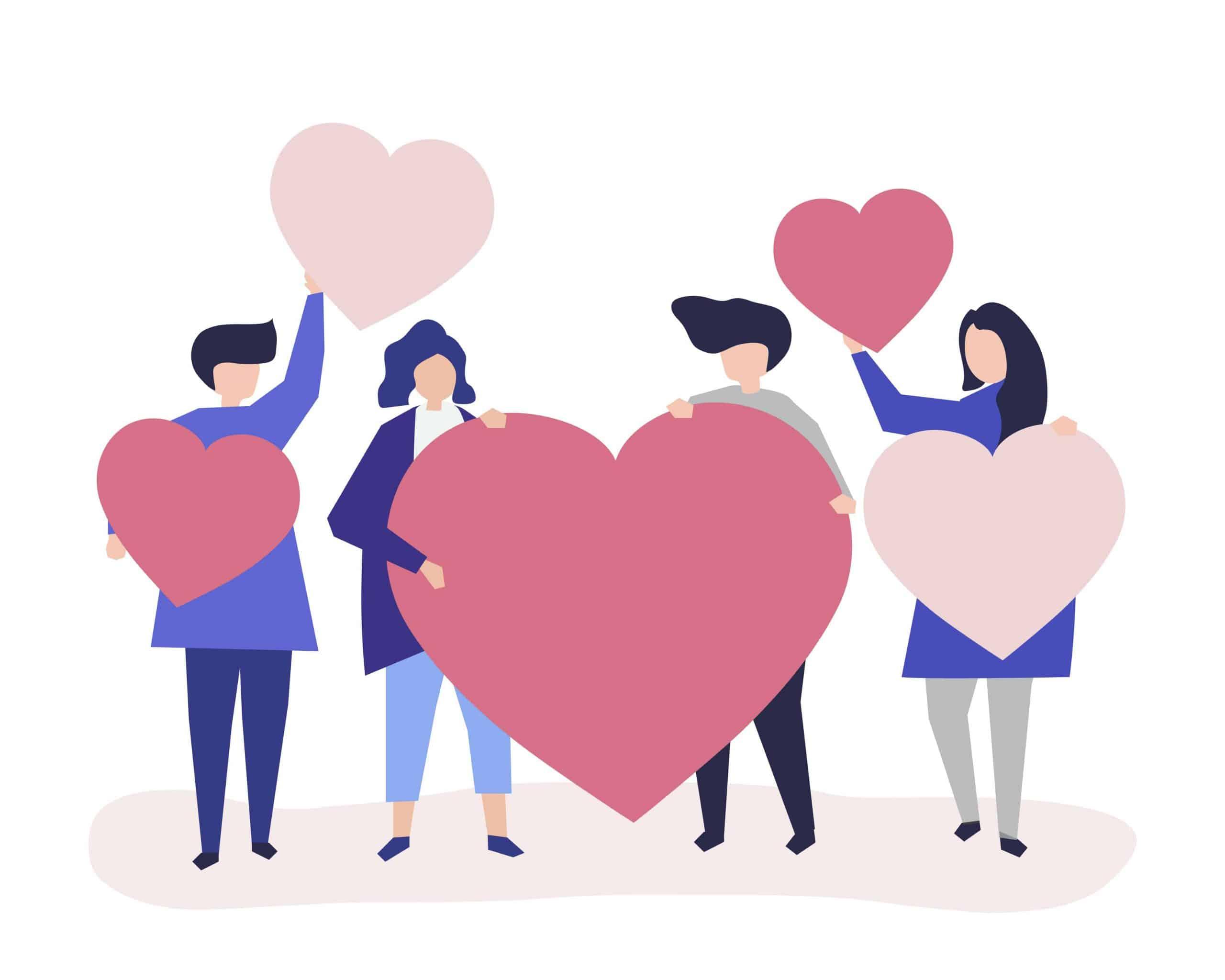 grupa-ljudi-sa-srcima-u-rukama-predstavljajuci-neku-humanu-zajednicu